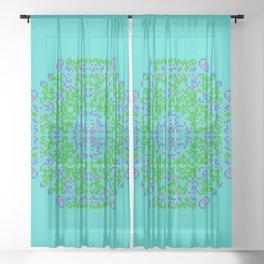 "CA Fantasy ""For Tiffany color"" series #5 Sheer Curtain"