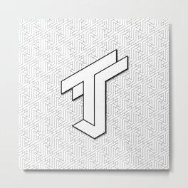 TJ Logo Metal Print