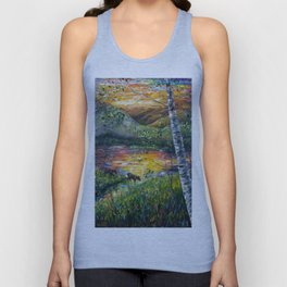 Sleeping Meadow (palette knife) Unisex Tank Top