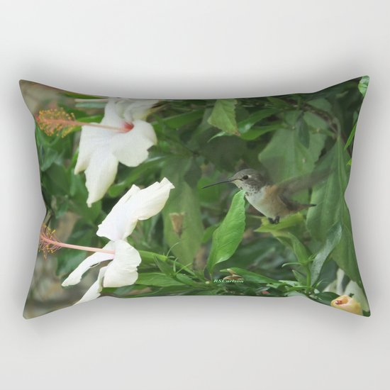 Lady Lurking in the Shade Rectangular Pillow