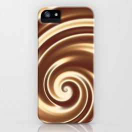 Chocolate milk cocktail spiral iPhone Case