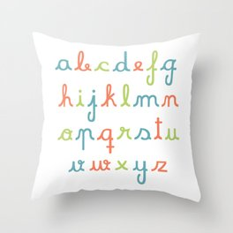 abc... rgb... Throw Pillow