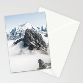 Mountain Tops Above Clouds And Snow Stationery Cards