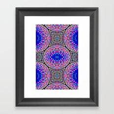 Blue Confetti Maze Framed Art Print