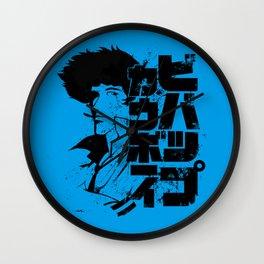 060 Spike Blk Jap Wall Clock
