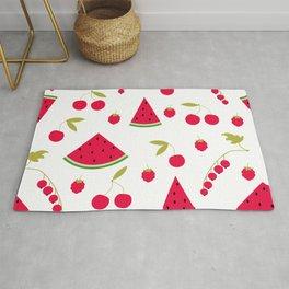 Pattern watermelon cherry raspberry currant Rug