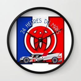 24 Hours of Le Mans - Toyota TS050 Wall Clock