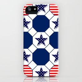 Nautical Patriotic Hexagons iPhone Case
