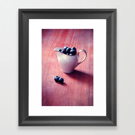 blueberries Framed Art Print