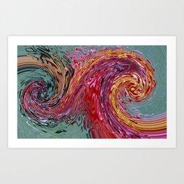 Rainbow Abstract Swirl Design Art Print
