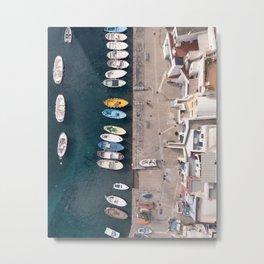 yellow boat Metal Print