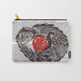 Here Be Dragons  (dragon and d20 dice on dictionary page) Carry-All Pouch