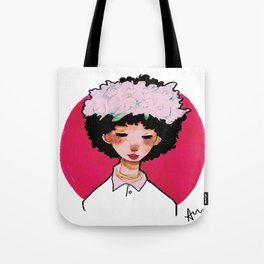 transparent flower girl  Tote Bag