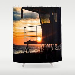 No Eclipse In Sight - Surf City September 27, 2015 Shower Curtain