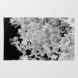 Abstract Tree Landscape Dark Botanical Art Black Noir Rug