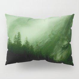 Midnight Mist Illuminated By Northern Lights Pillow Sham
