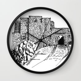 shadow at the top of the hill Wall Clock
