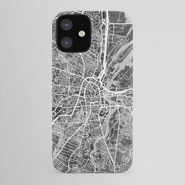 Belfast Northern Ireland City Map iPhone Case