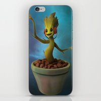 groot iPhone & iPod Skins featuring Groot! by Drogyn