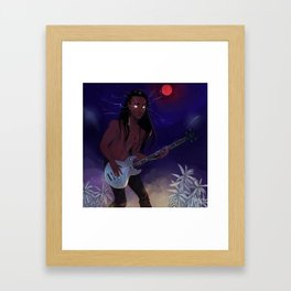 Blood Thunder Moon and booming music Framed Art Print