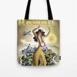 Vintage Airline Travel Poster - Hawaii Tote Bag