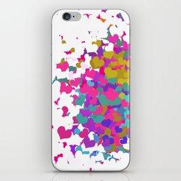 Heart leaf colorful iPhone Skin