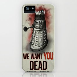 We Want You (No Border) iPhone Case