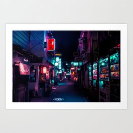 Late Night in Shinjuku's Golden Gai Art Print