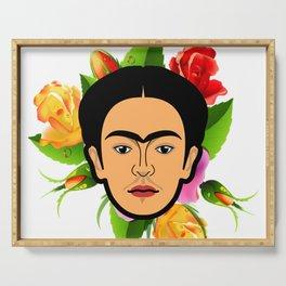 Frida face Serving Tray
