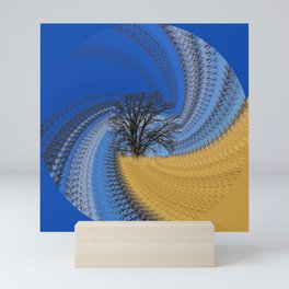 Prairie oak swirl Mini Art Print