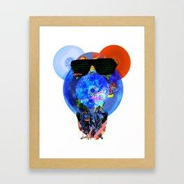 Pink Floyd Bear Face Framed Art Print