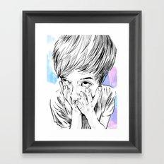 facemelt Framed Art Print