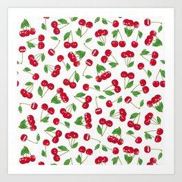 Very cerise - White Art Print