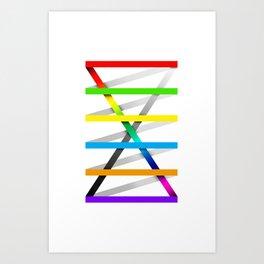 Color Experiment #1 Art Print