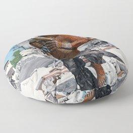 Bugbear Hero Child Rescue Fantasy Art Floor Pillow