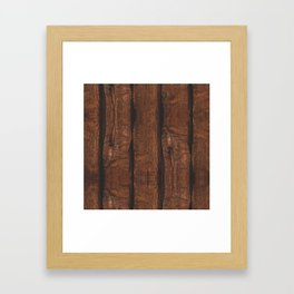 Rustic brown old wood Framed Art Print