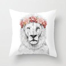 Festival lion Throw Pillow