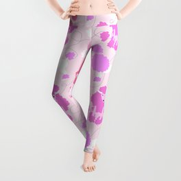 50s Pink Poodle Skirt Leggings