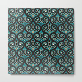 Elegant element, arabesque seamless background ornament in Eastern style.  Metal Print