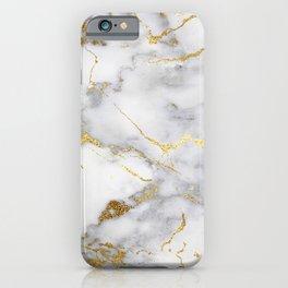 Italian gold marble iPhone Case