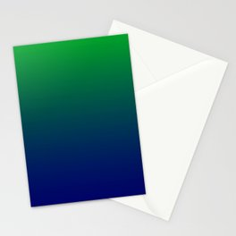 Green to Blue Gradient Stationery Cards