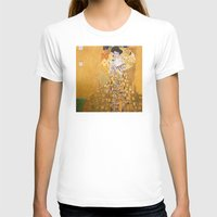 vienna T-shirts featuring Gustav Klimt - The Woman in Gold by Elegant Chaos Gallery