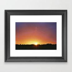 Norfolk Sunset Framed Art Print