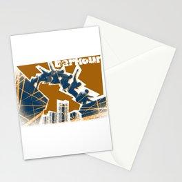 Parkour print Stationery Cards