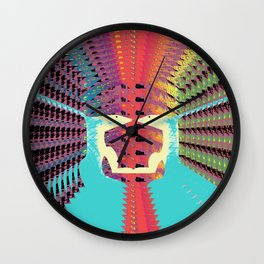 Two Foxes Looking into Each Others Eyes 01 Wall Clock