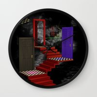nightmare Wall Clocks featuring nightmare by Ancello