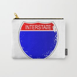 Interstate Sign Isolated Carry-All Pouch