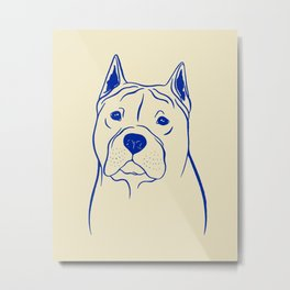 American Staffordshire Terrier (Beige and Blue) Metal Print