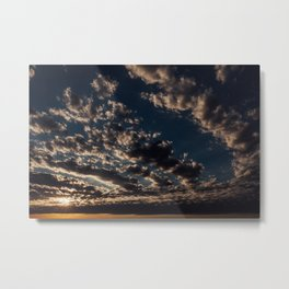 Cloudy Sunset Skies Metal Print