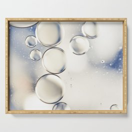 pearlescent water droplets Serving Tray
